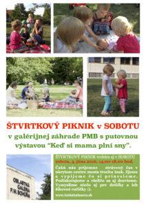 Plagátik Štvrtkový piknik v sobotu